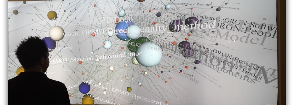 OSNAP Visualization on a High-Resolution 3D Wall